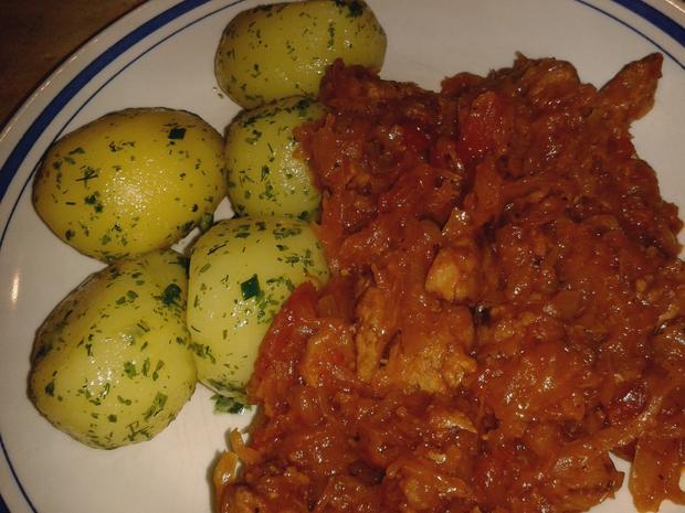 Fein pikantes Sauerkraut-Geschnetzeltes .. vegan - Rezept