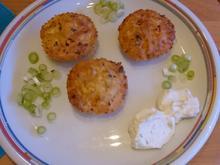 Kartoffelpuffer - Muffins mit Kräuterquark und Schalotten - Rezept - Bild Nr. 922
