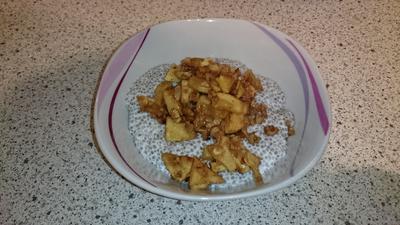 Rezept: Chia-Pudding  mit Bratapfel