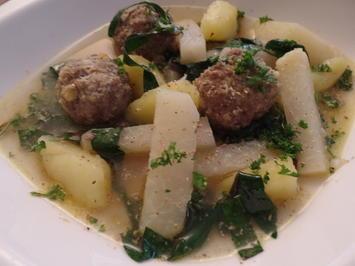 Kohlrabi-Kartoffel-Suppe mit Fleischklößchen - Rezept - Bild Nr. 916