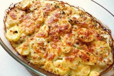 Rezept: Kohlrabi-Kartoffel-Gratin