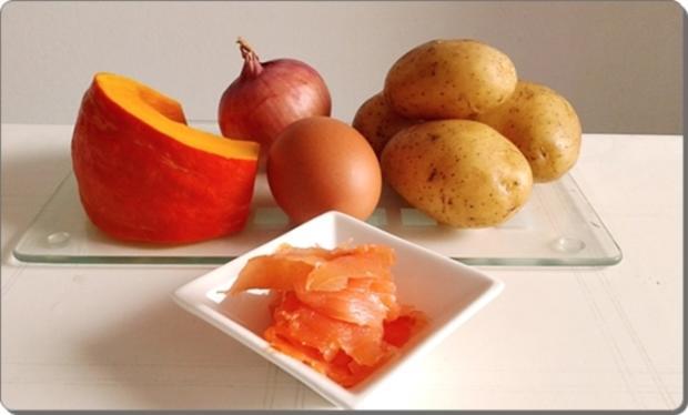 Hokkaido-Kartoffel-Rösti mit Spiegelei und Wildlachs - Rezept - Bild Nr. 930