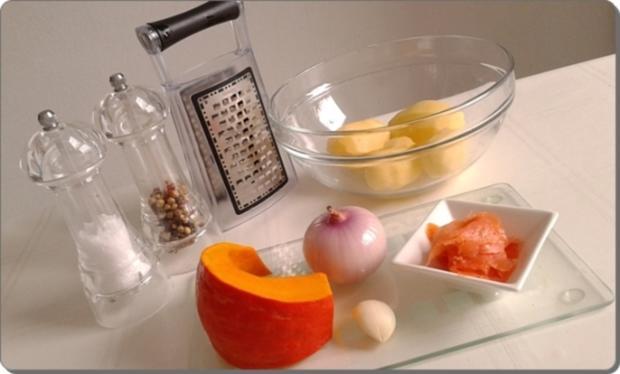 Hokkaido-Kartoffel-Rösti mit Spiegelei und Wildlachs - Rezept - Bild Nr. 931