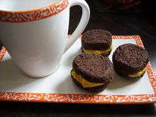 Keks & Co: Schoko-Kekse mit Kürbiscreme - Rezept - Bild Nr. 930
