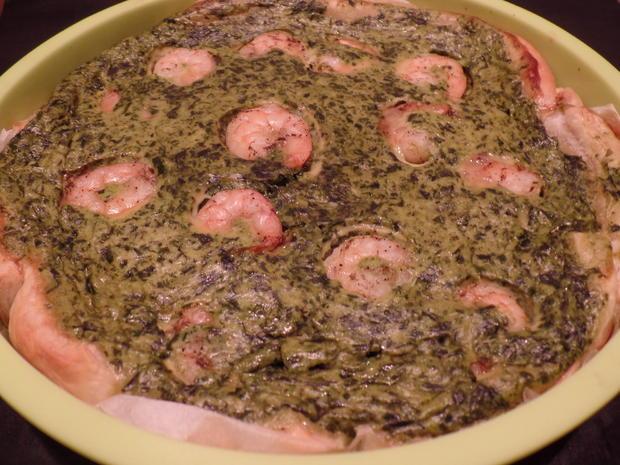 Spinatguiche mit Garnelen - Rezept - Bild Nr. 951