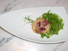 Birnen mit Blauschimmel-Käse gefüllt - Poires farcies au bleu - Rezept