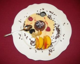 Schokoladentörtchen, halbflüssig - Rezept