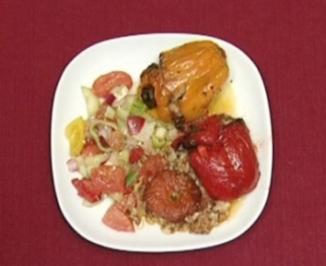 Rezept: Jemistes - Gefüllte Paprikaschoten und Tomaten (Anastasia Zampounidis)