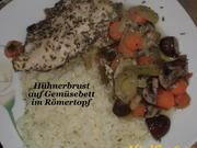 (Huhn) Hähnchen auf Gemüsebett im Römertopf - Rezept - Bild Nr. 952