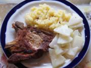 Stielkotelett mit Kohlrabigemüse und Kartoffelstampf - Rezept - Bild Nr. 1024