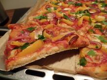 Salamipizza mit Mozzarella - Rezept - Bild Nr. 1033
