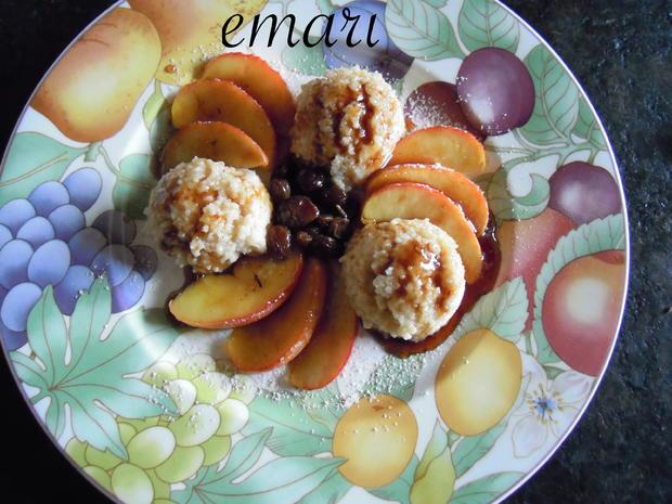 süßes CousCous mit karamelisierten Äpfeln - Rezept - Bild Nr. 1049
