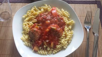Rezept: Pasta mit Fleischbällchen