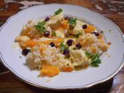 Maishähnchen mit Muskatkürbis, Joghurtsoße, Petersilienwurzel-Risotto und Gremolata - Rezept