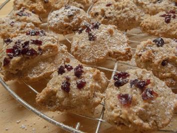Rezept: Plätzchen: Löffelkekese mit Cranberrys