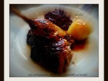 Ente mit Sojasaucen-Ahornsirup-Lack und mariniertem Rotkohl - Rezept - Bild Nr. 1102