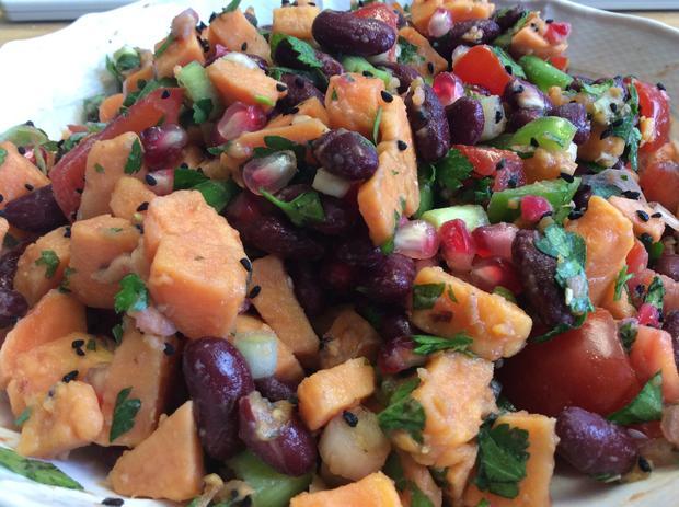 Süßkartoffel Salat mit Granatapfel - Rezept - Bild Nr. 1105