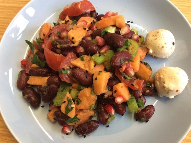 Süßkartoffel Salat mit Granatapfel - Rezept - Bild Nr. 1106