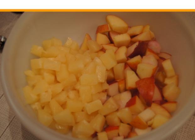 Kalbsrouladen mit Ananas-Apfel-Rotkohl und Tschechischen Hefeteig Klößen - Rezept - Bild Nr. 1119