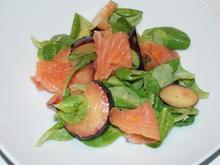 Feldsalat mit Pflaumenvinaigrette und Lachs - Rezept - Bild Nr. 1195