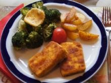 Tofuschnitzel mit Brokkoli und gebratenen Kartoffelspalten - Rezept - Bild Nr. 1207