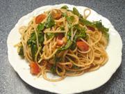Spaghetti mit Tomatenpesto und Rucola - Rezept
