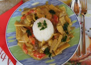 Schweinefilet-Gemüse-Kokos-Curry-Wok mit Basmatireis - Rezept - Bild Nr. 1218