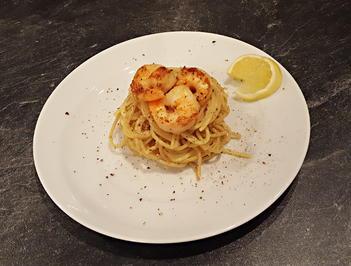 Zitronenspaghetti mit Garnelen Homemade - Rezept - Bild Nr. 1215