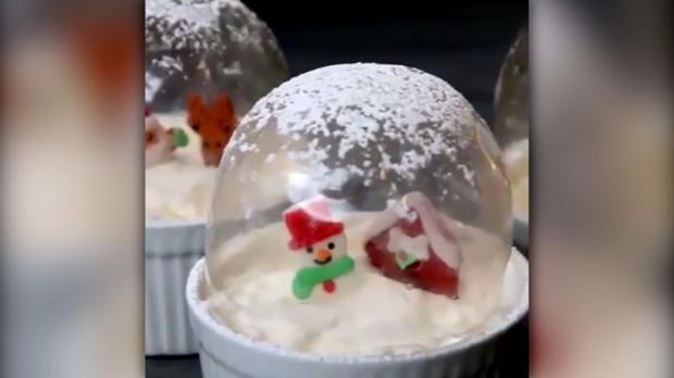 Dessert in der Schneekugel - Rezept - Bild Nr. 1277