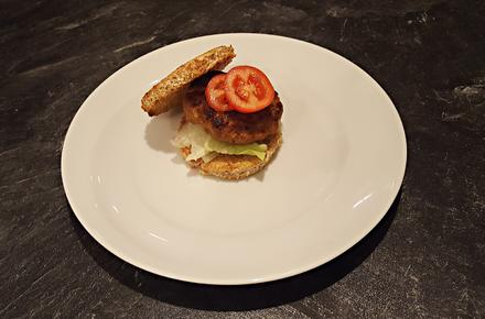 Sandwich Burger Style Homemade - Rezept