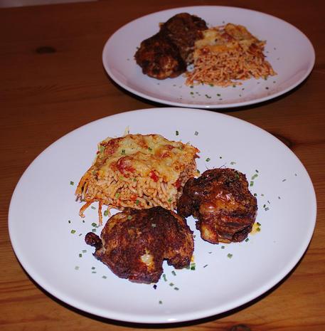 Knusprige Pollo Fino mit Spaghetti al Forno - Rezept - Bild Nr. 1318