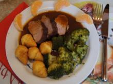 Würziges Schweinefilet mit pikanter Sauce, Brokkoli und knusper Kroketten - Rezept - Bild Nr. 1327