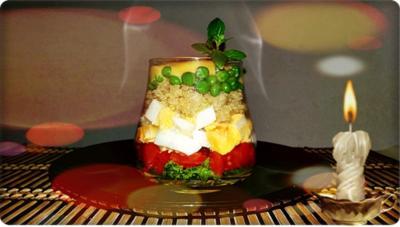 Rezept: Schichtsalat im Glas zum Frühstück oder für  zwischendurch