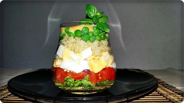 Schichtsalat im Glas zum Frühstück oder für  zwischendurch - Rezept - Bild Nr. 1332