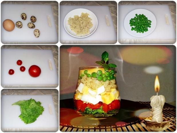 Schichtsalat im Glas zum Frühstück oder für  zwischendurch - Rezept - Bild Nr. 1333