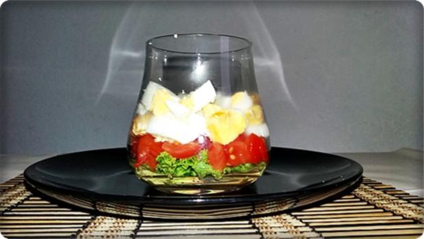 Schichtsalat im Glas zum Frühstück oder für  zwischendurch - Rezept - Bild Nr. 1336
