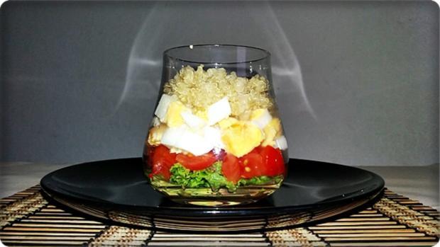 Schichtsalat im Glas zum Frühstück oder für  zwischendurch - Rezept - Bild Nr. 1337
