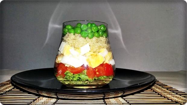 Schichtsalat im Glas zum Frühstück oder für  zwischendurch - Rezept - Bild Nr. 1339