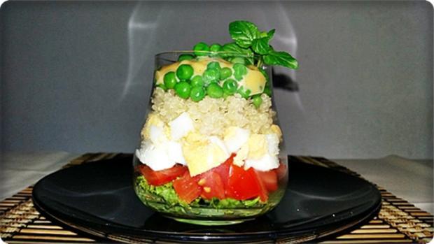 Schichtsalat im Glas zum Frühstück oder für  zwischendurch - Rezept - Bild Nr. 1341
