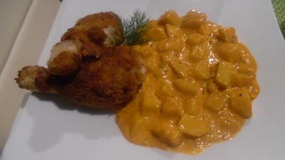 Back-Hend'l mit Paprika-Rahmkartoffeln - Rezept - Bild Nr. 1332