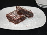 glutenfreie Brownies mit Roter Beete und Basilikum - Rezept - Bild Nr. 1356
