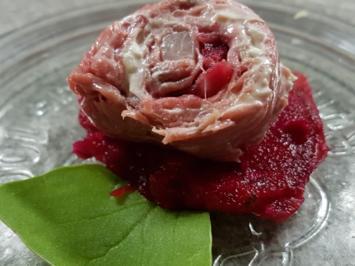 Rezept: Fleisch / Rind = Roastbeefröllchen à la Biggi