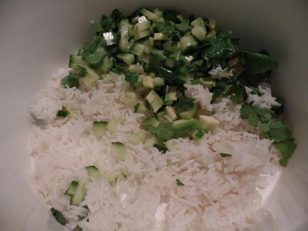 Limetten-Minz-Hähnchen mit Reissalat - Rezept - Bild Nr. 1369