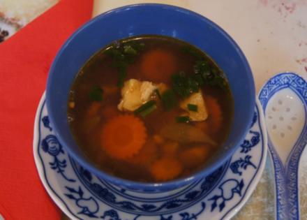 Hühnersuppe mit Gemüse und Eierstich asiatisch gewürzt - Rezept - Bild Nr. 1405