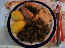 Brauner Kohl II mit Kassler Kotelett und frischer Bregenwurst - Rezept