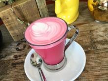 Pink-Latte mit Roter-Beete und Ingwer - Rezept