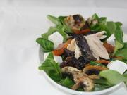 Vitelotte - blaue Kartoffel mit Forelle und Kürbis - Rezept