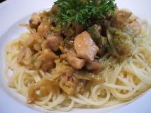 Pasta: Spaghetti mit Wirsing und Hühnerfleisch - Rezept