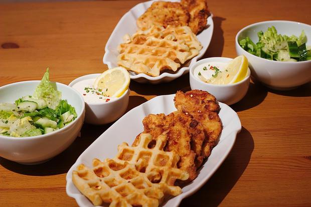 Fried Chicken mit Waffeln & Sour Cream - Rezept - Bild Nr. 4