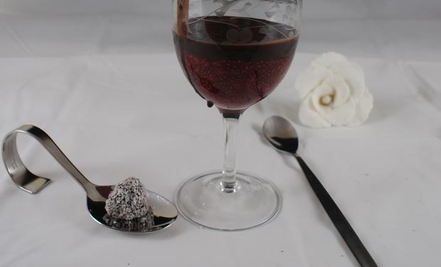 Warmes Chia - Himbeerdessert mit selbstgemachter Schokocreme - Rezept - Bild Nr. 3